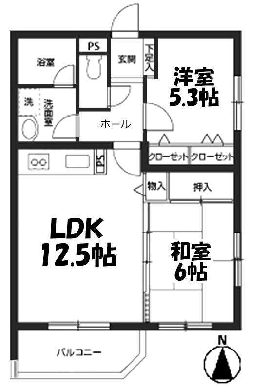 ■物件番号4692 超海近!海2分のオートロック完備2LDKマンション!日当り良好な2階!キッチンリフォーム!