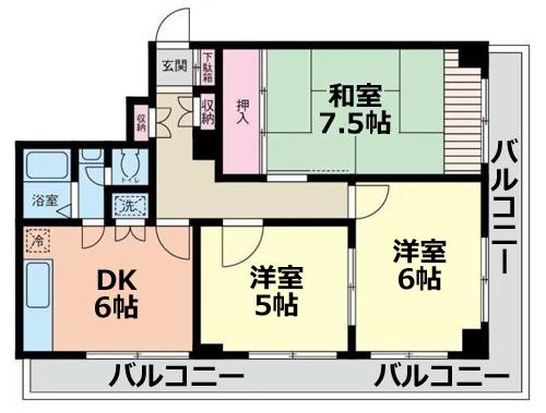 ■物件番号P4693 茅ヶ崎駅海側!駅3分!ペット可!ネコ可!3DKマンション!EV完備!4階カド!9.8万円!
