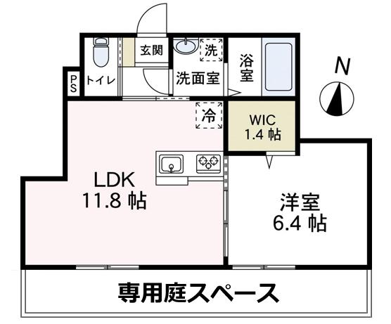 ■物件番号4741 新築1LDK+WICが何と6.7万円!海側!2人入居可!ラスト1部屋!庭スペース有り!
