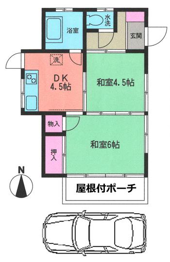 ■物件番号4744 海側で畑が残るのどかなエリアの昭和レトロ平屋!P無料6万円!インター近く!
