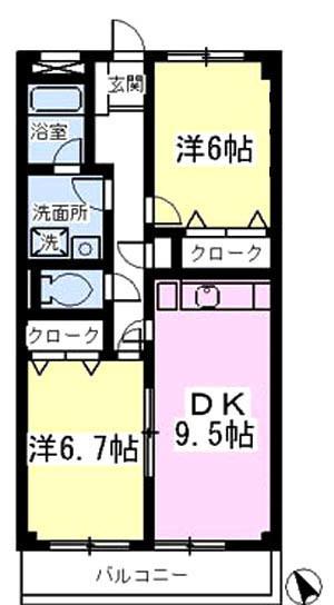 ■物件番号4750 憧れの東海岸南!駅も海も徒歩11分!2DKマンション!3階!南向き日当り良好!8.2万円