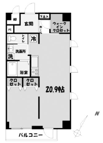 ■物件番4754 辻堂海側!駅15分!広すぎる20帖の1Rマンション!ペットOK!ネコもOK!最上階6階カド!