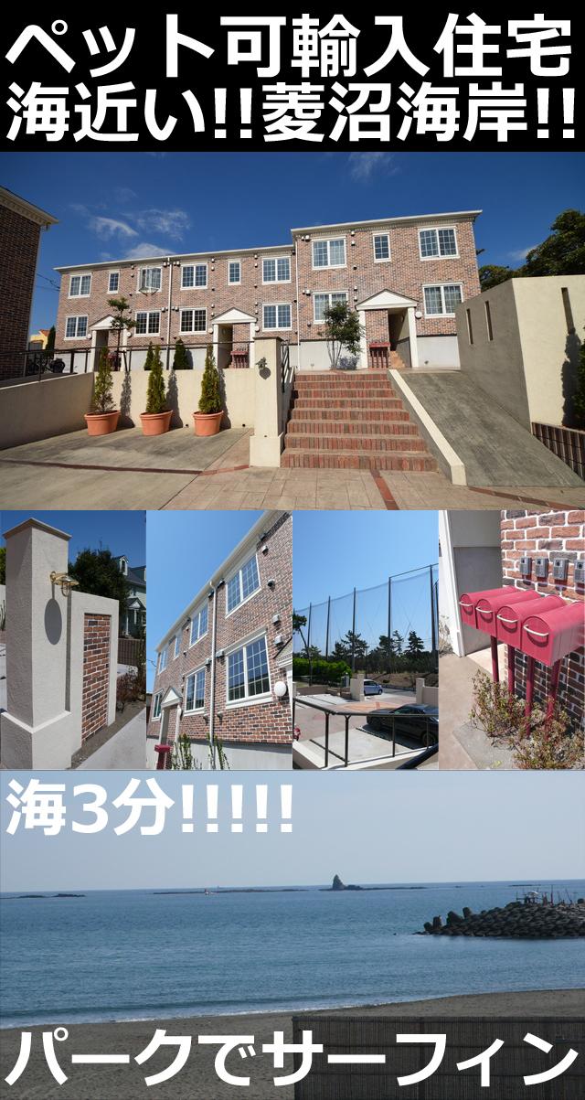 ■物件番号4889 海まで徒歩3分のペット可輸入住宅!1LDKタイプ!パークでサーフィン!7.8万円!