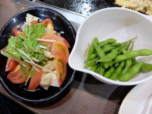 トマトの和風サラダと枝豆