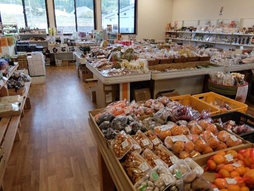 地元の特産物の販売