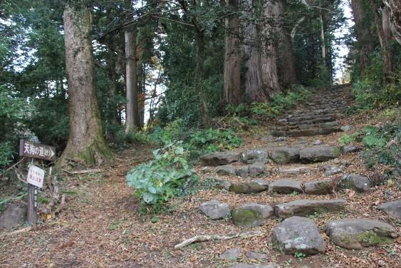 石段と天狗の道