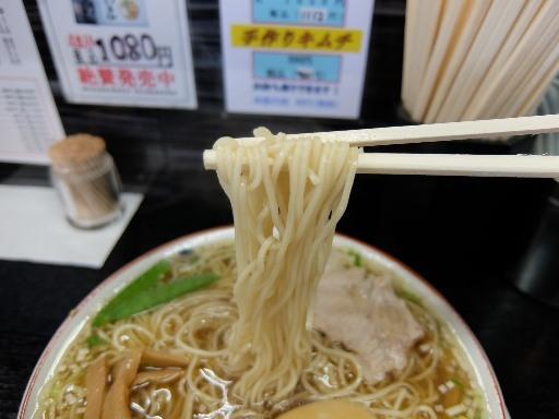 低加水ストレートの細麺