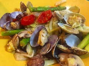 大豆家@浅利と白菜のアクアパッツァ