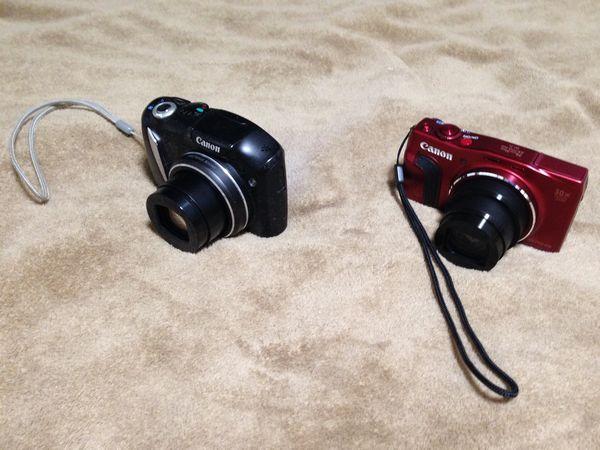 左がこれまで使用してきたSX130IS、右が今回導入したSX710HS。