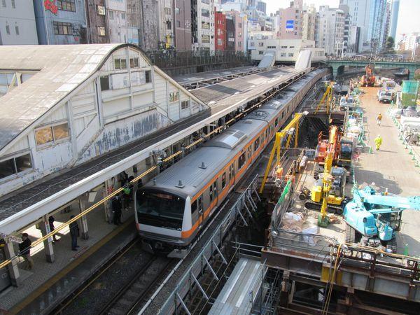 聖橋から見たJR御茶ノ水駅