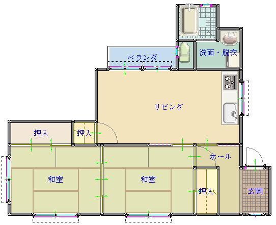 中里櫻ハイツ№6 202