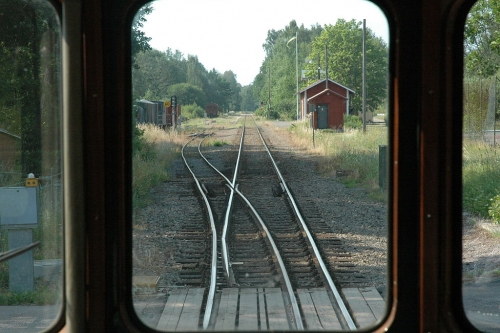 n Jenny, Sweden, the narrow gauge leaves the standard gauge