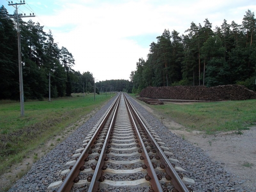 Mixed 1520 and 1435 mm gauge on Lithuanian part of Rail Baltica line between Mockava and Šeštokai