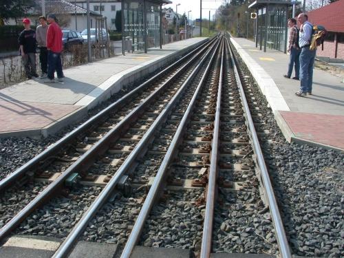 Waldkappeler Bahn の六線軌条