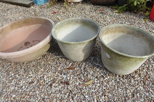 ペイント前の植木鉢