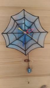 クモの巣時計