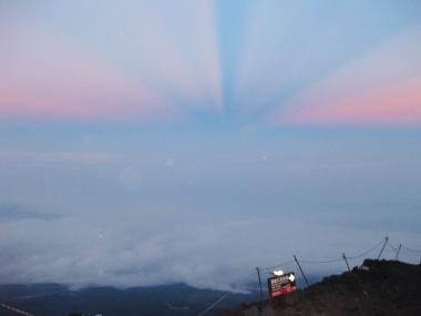 富士山雲海上3000m3
