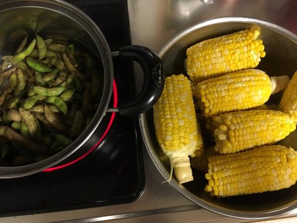 160831ートウモロコシと枝豆
