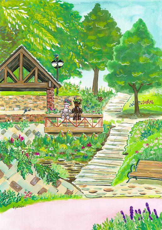 ハーブ園花畑