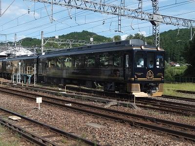 近鉄16200系青の交響曲(シンフォニー) 六田車庫発車