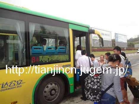 海南島三亜 路線バスに乗って三亜鳳凰国際空港へ3