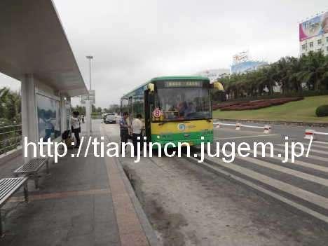 海南島三亜 路線バスに乗って三亜鳳凰国際空港へ4