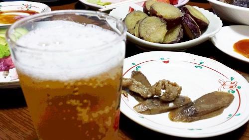 ビールと...