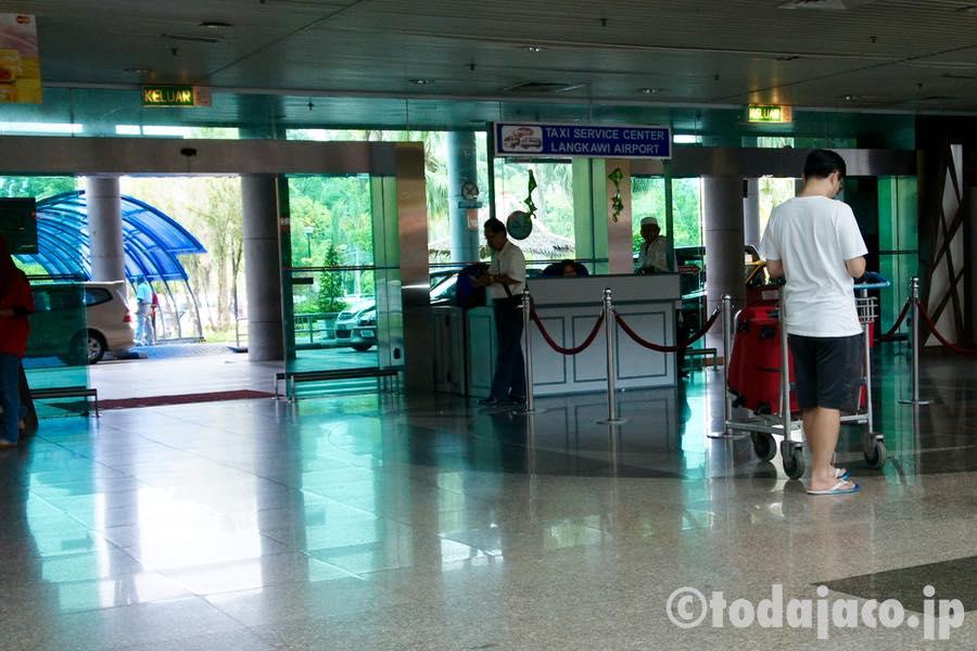 ランカウイ空港の出発ロビー