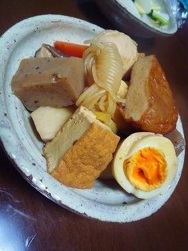 煮付野菜蒟蒻薩摩揚