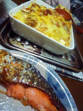 鮭とグラタン