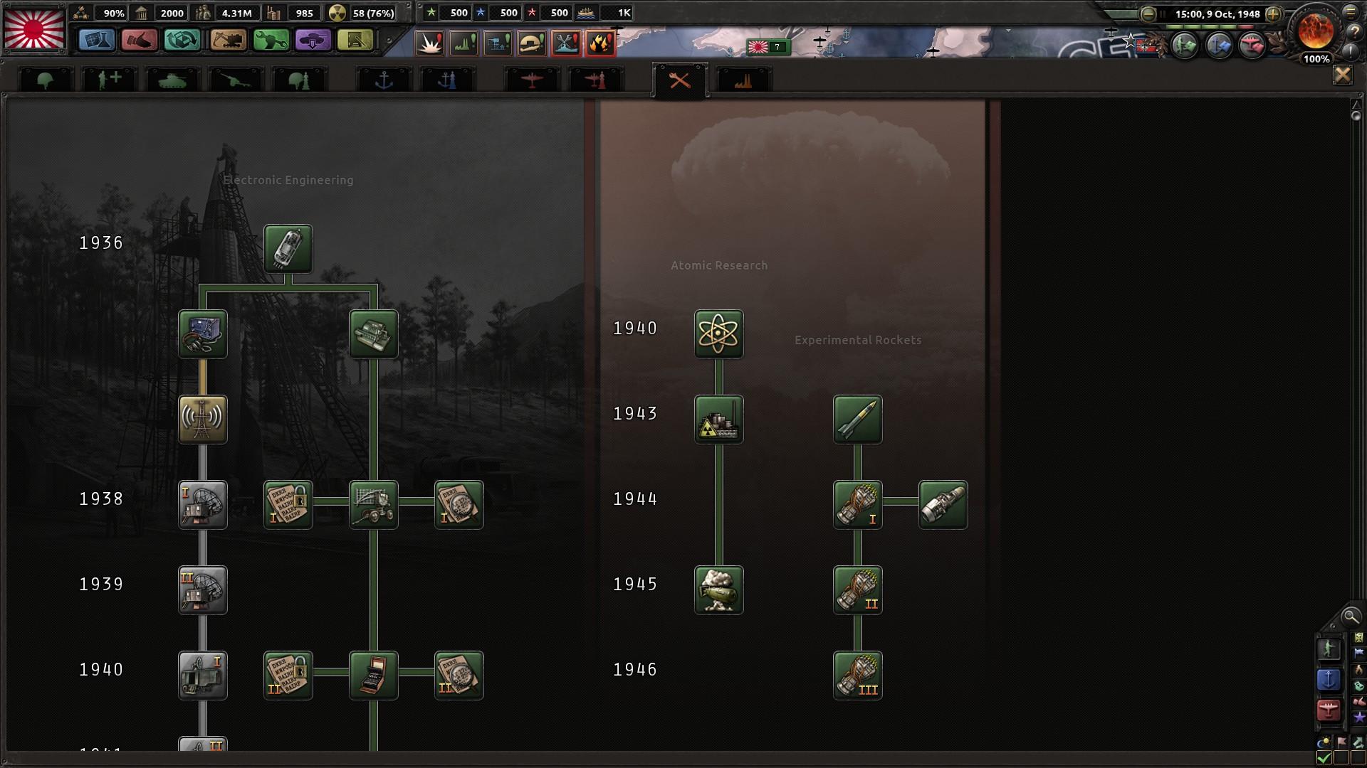 HoI4核爆弾研究