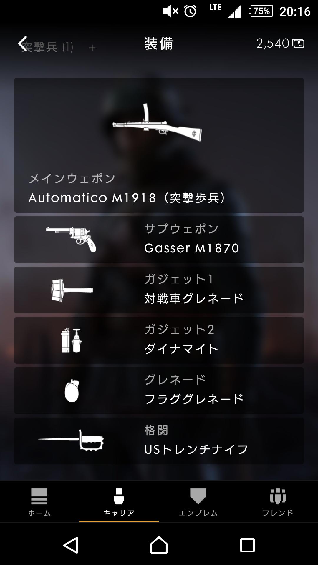 BF1装備