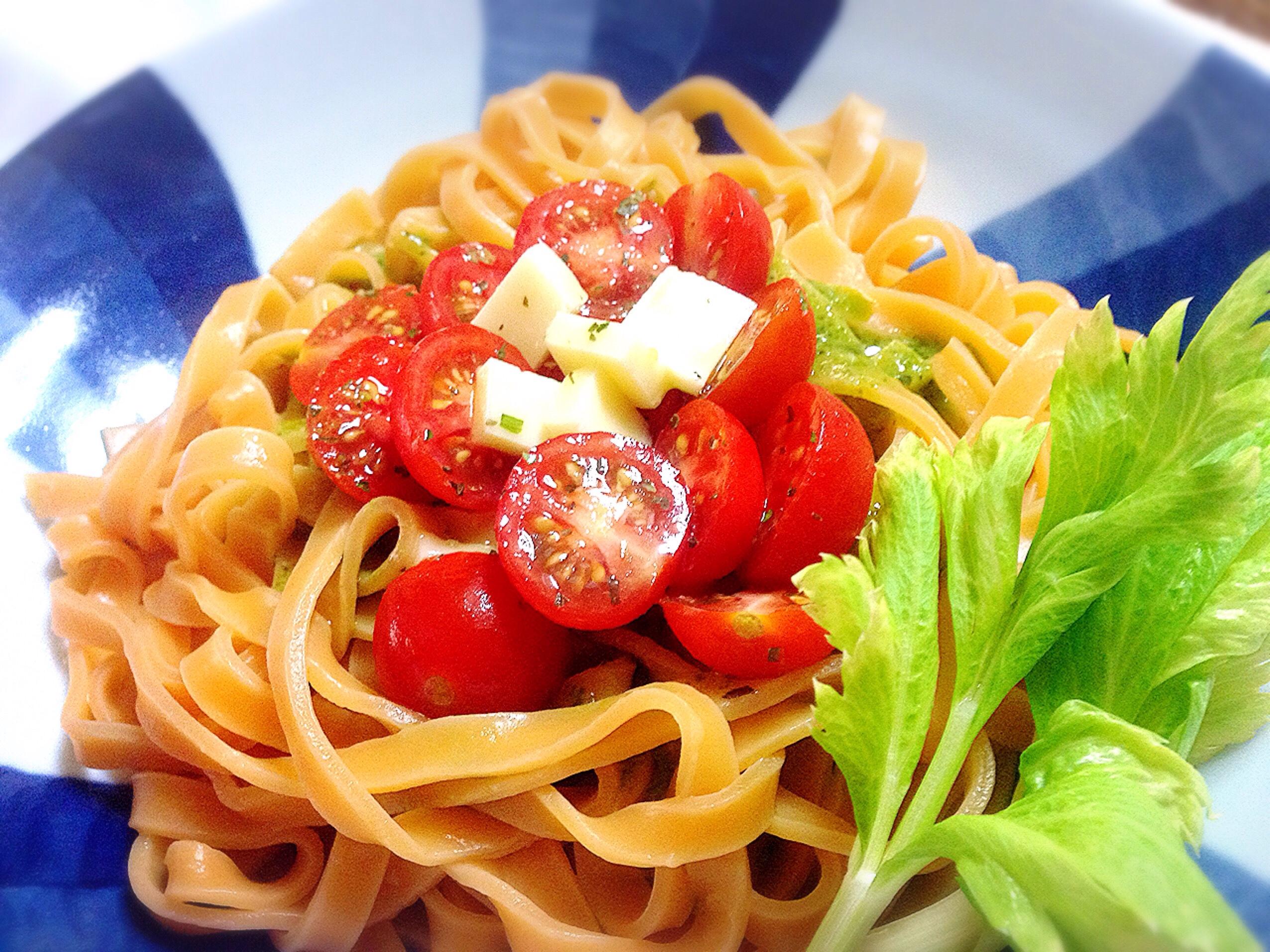 トマトのフェットチーネ調理例@東京都中野区の老舗製麺所 大成食品株式会社の工場直売
