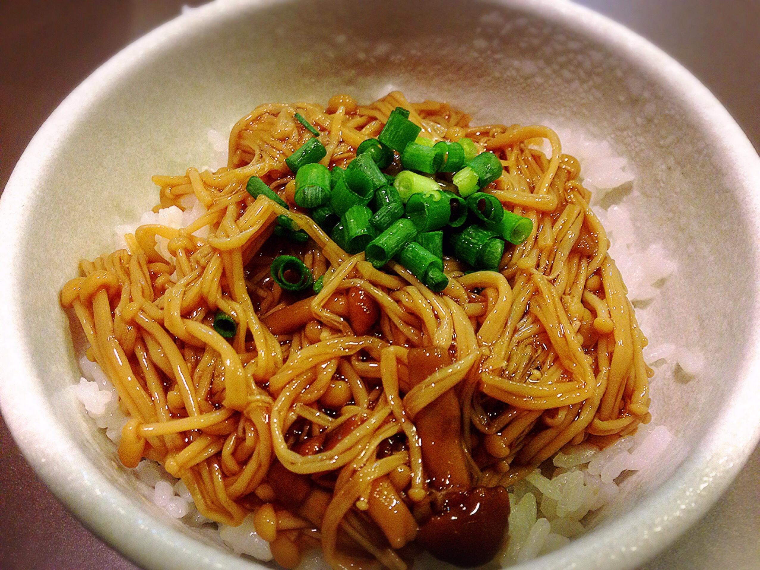 麺彩房中野本店 ご飯もの新作 なめ茸丼