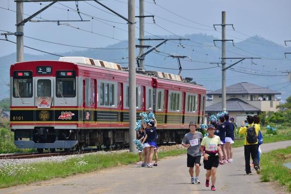 2016年5月21日 上田電鉄別所線 中野~舞田 6000系6001編成