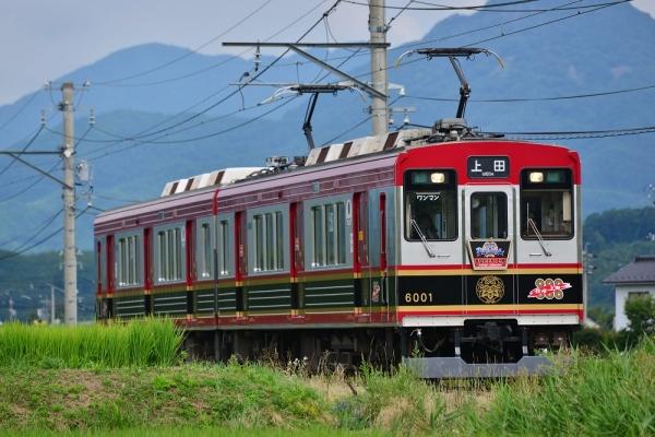 2016年7月30日 上田電鉄別所線 中塩田~下之郷 6000系6001編成