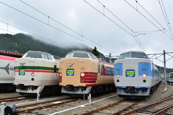 2016年8月28日 富士急行河口湖線 河口湖 JR東日本189系M52・M51・M50編成