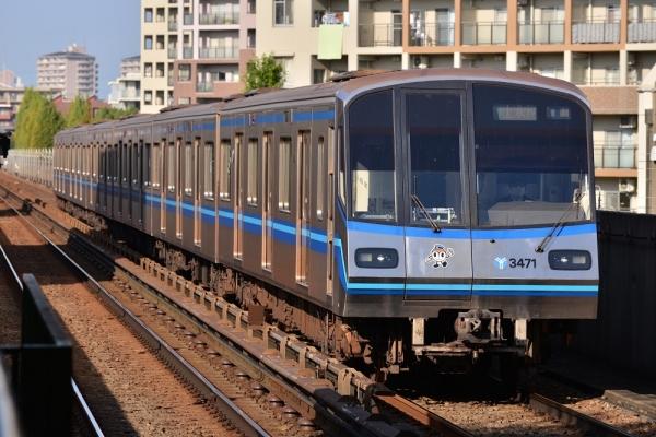 2016年11月18日 横浜市営地下鉄ブルーライン 仲町台 3000R形第47編成