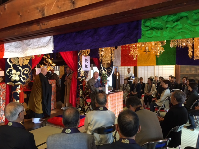 名古屋 島田の地蔵寺住職様による説教