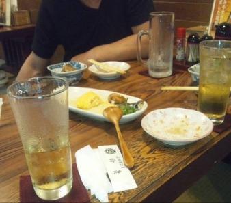 日本大学工学部付近の居酒屋で2人で軽く飲む