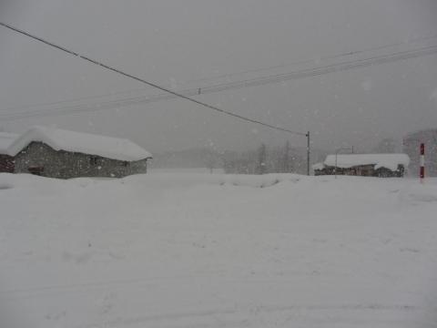 厳冬の旧沼牛駅
