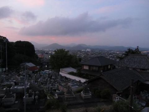 金谷宿夕景