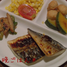 鯖の塩焼きプレート