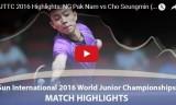 呉柏男VS趙勝敏(男シングル準決勝)世界ジュニア2016