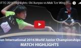 石洵瑶VS麦子詠(女シングル決勝戦)世界ジュニア2016