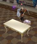 7洋風の茶卓