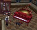 グランドピアノ赤