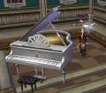 グランドピアノ白