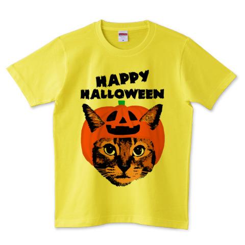 猫Tシャツ パンプキンキャット