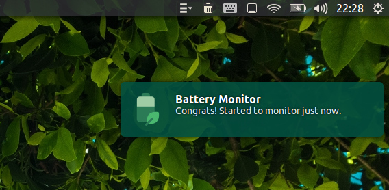 Battery Monitor Ubuntu ノートパソコン バッテリー 充電状態 通知